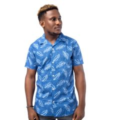 SELECTED HOMME MENS SS SHIRT IN DREAMBLUE