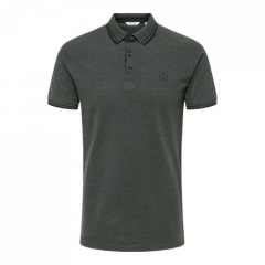 MENS STAN LIFE FITTED POLO | BLACK