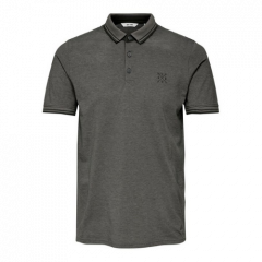 MENS STAN LIFE FITTED POLO | GREY