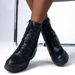 NELLY LACE UP LEATHER BOOT