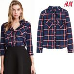 Womens Checked Shirt | NavyRed
