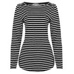 Womens Loose Fit Stretch Top | Black/White