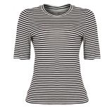 Womens Stripe T-Shirt | Black/White