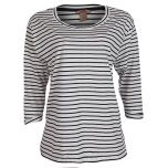 Womens Loose Fit Stripe Top | White